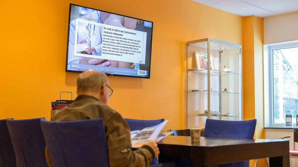 gezondheidszorg wachtkamer narrowcasting