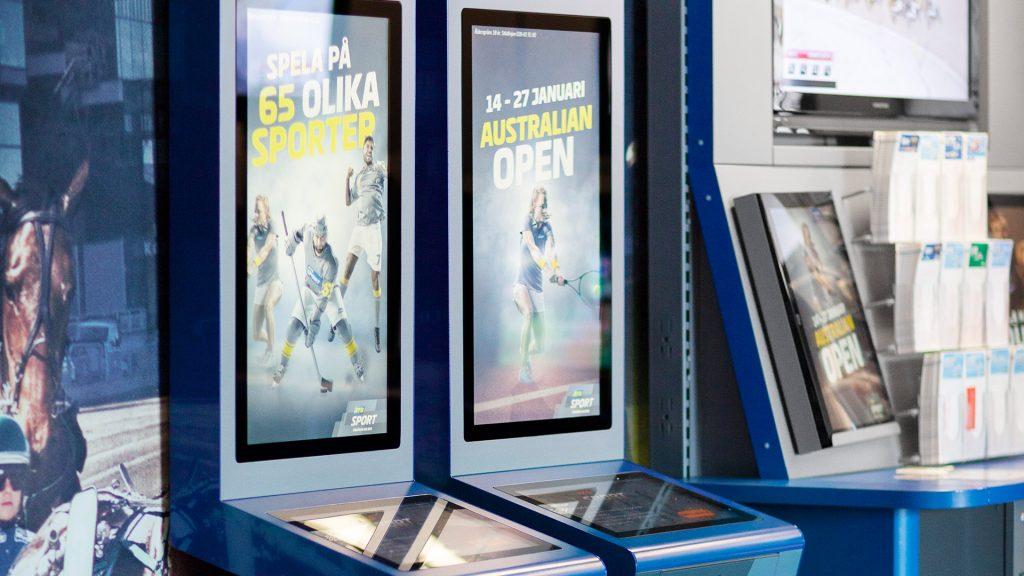 digital signage case van ATG