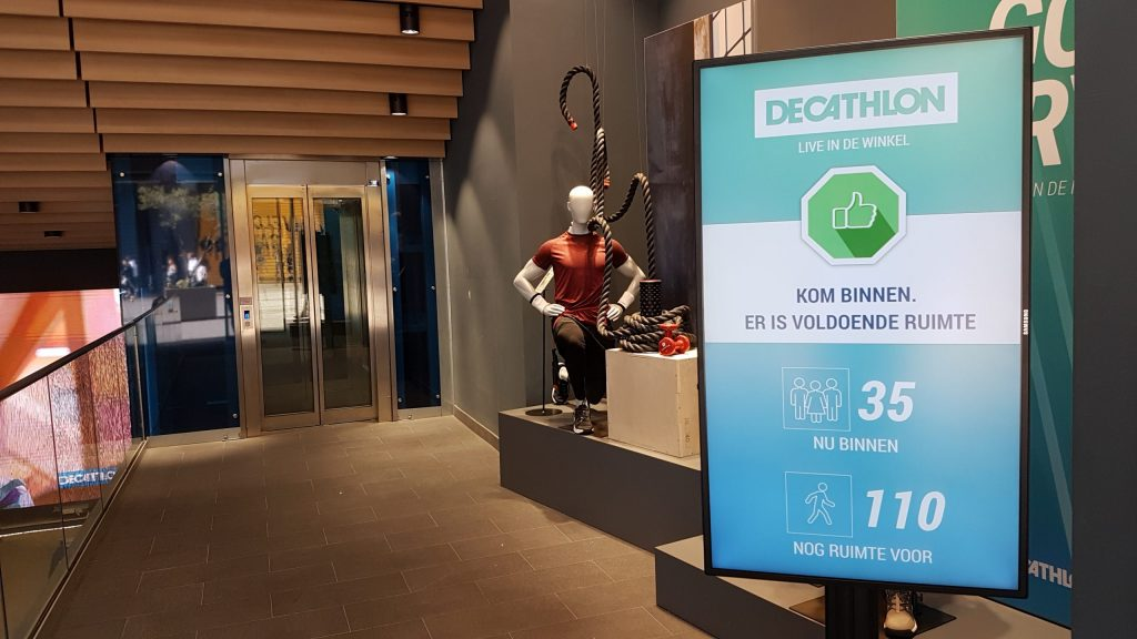 Decathlon store counter