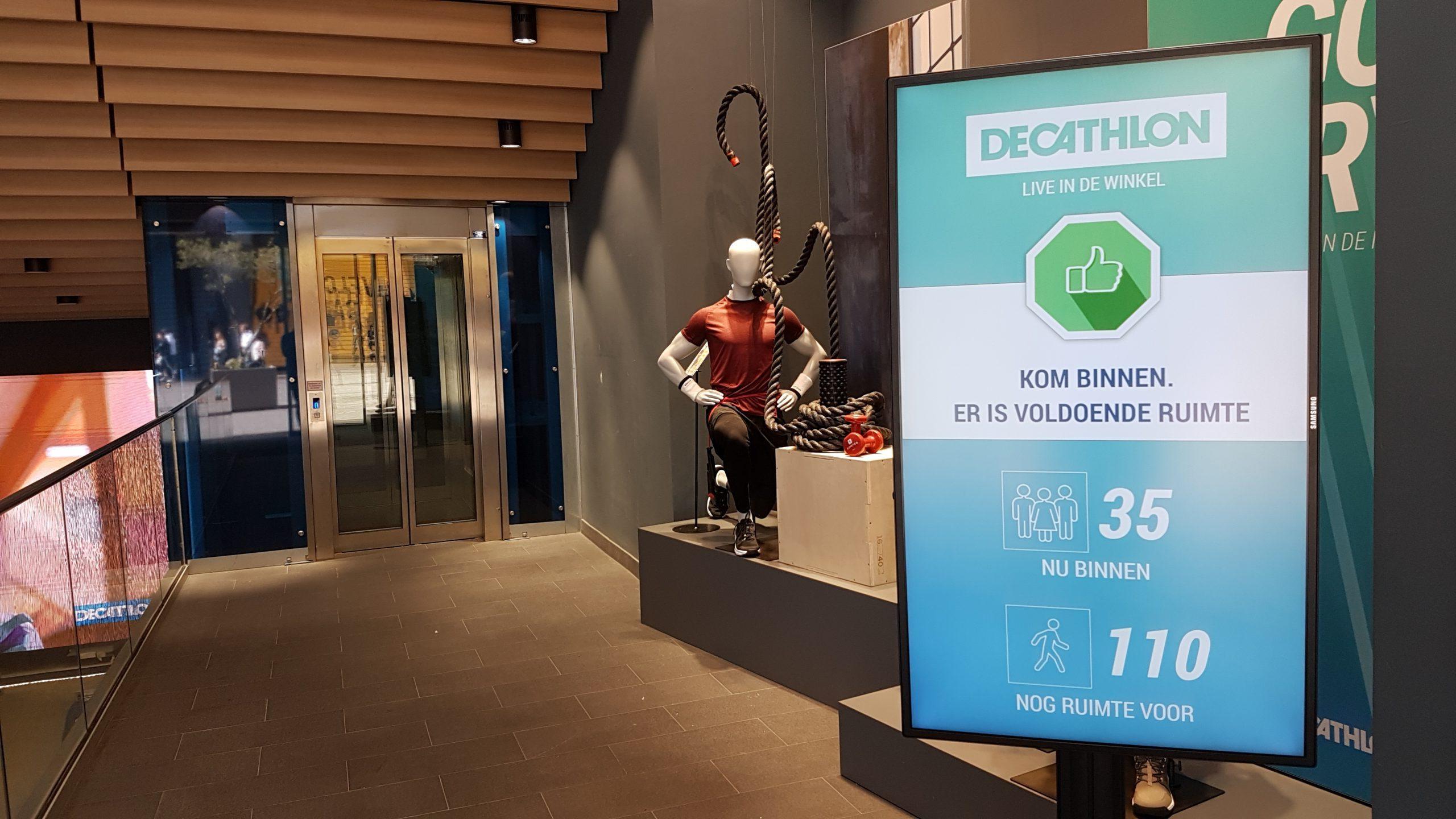 Decathlon store counter